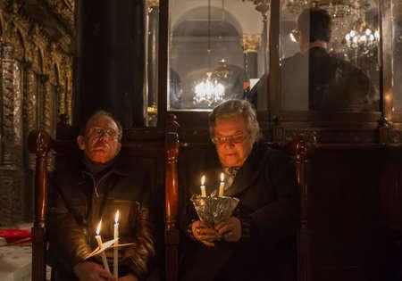 orthodoxy: Orthodox Easter ceremony in Aya Dimitri Church in Istanbul, Turkey