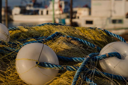 Fishing net in the harbour