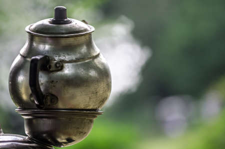 Traditional Turkish tea urn