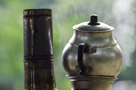 oldened: Traditional Turkish tea urn