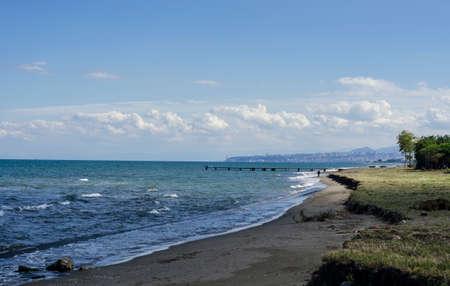 Beaches and the seaside of Black Sea, Samsun city, Turkey Stock Photo