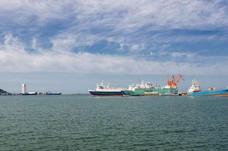 Samsun, Turkey - September 5, 2016: Scene from Samsun city harbour, Turkey Editorial