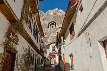 Old traditional Ottoman houses in Amasya, Turkey Editorial