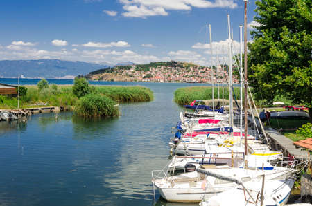 Ohrid Lake and the beaches of Ohrid Town