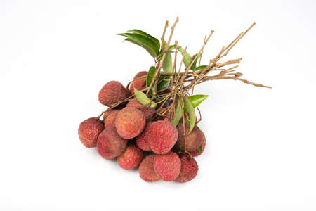 leechee: lychees isolated on white background