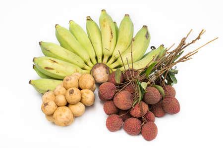 leechee: Combine fruit with,Banana lychees rambutan Longkong and apple