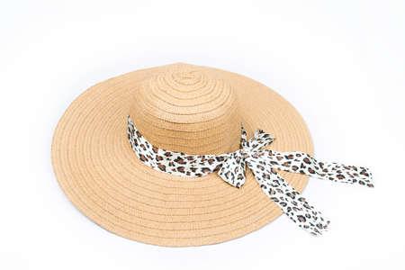 straw hat: Feminine hat