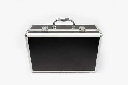 Suitcase for cosmetics isolated on white background photo