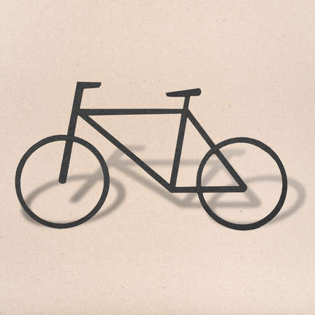 paper cut out: the paper cut out of bicycle