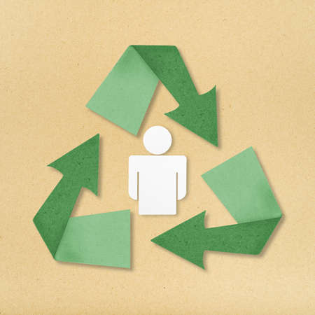Reuse, reduce, recycle poster design. photo