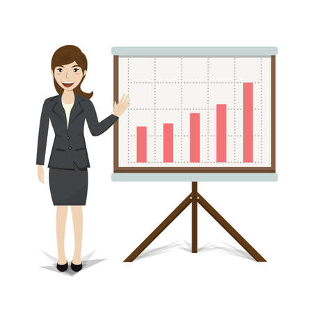 growing business: Business present growing business vector illustration. Illustration