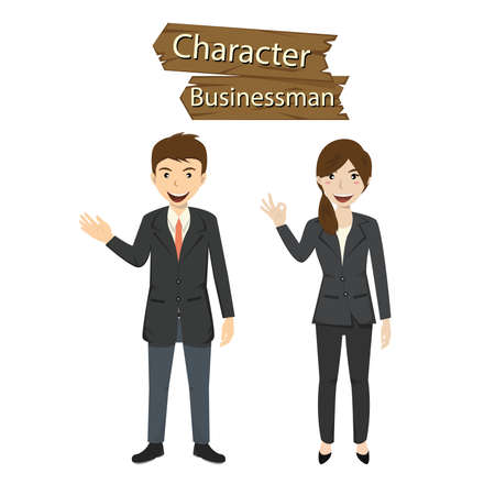 Business character set vector illustration. Vector