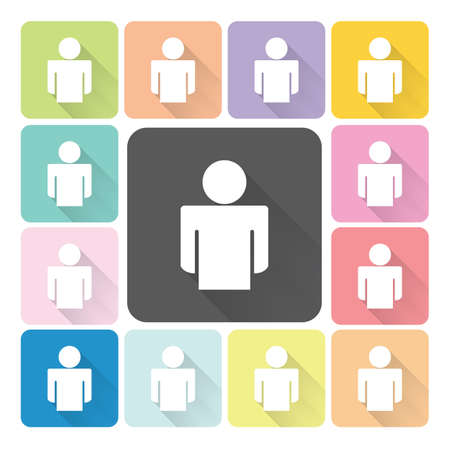 People Icon color set vector illustration. Vector