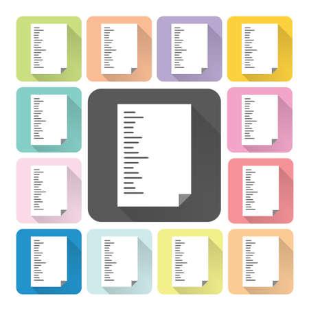 unfolded: Paper Icon color set illustration.