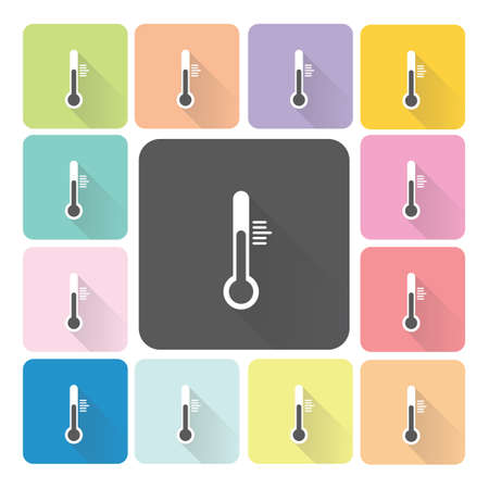 Thermometer Icon color set illustration. Vector