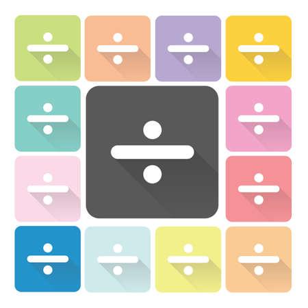 Division Icon color set illustration. Vector