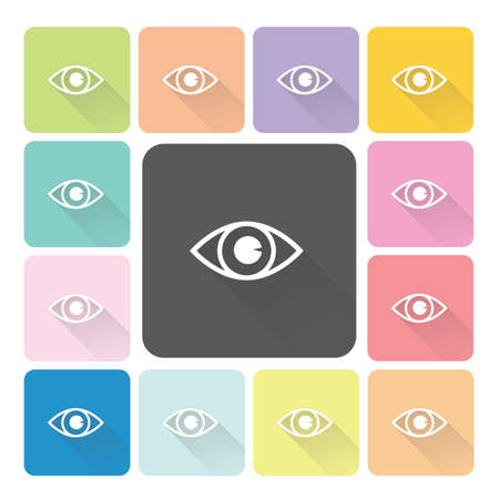 Eye Icon color set illustration. Vector