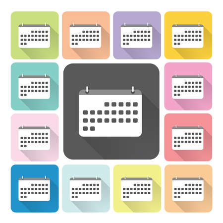 calender icon: Calender Icon color set illustration. Illustration