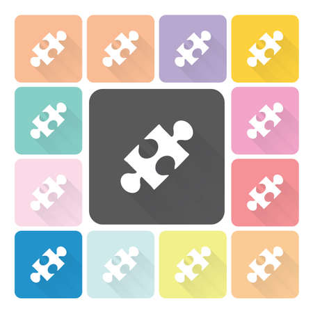 guidelines: Jigsaw Icon color set illustration. Illustration