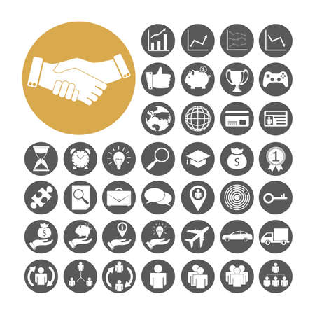 medal like: Business Icon set vector illustration.