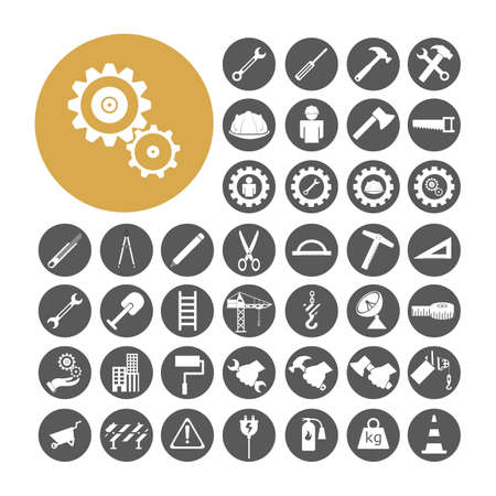 civil engineers: Engineer Icon set vector illustration Illustration