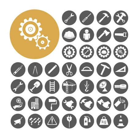 Ingenieur Icon set vector illustratie