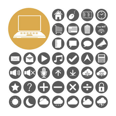 Computer Icon set vector illustration. Vector