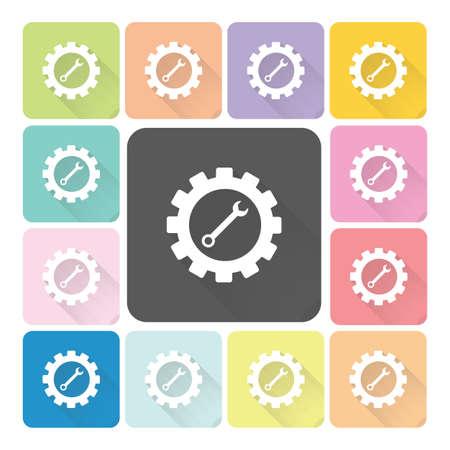 Gear Icon color set vector illustration Vector