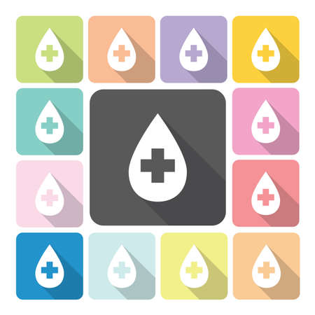 emergency response: Blood Icon color set vector illustration