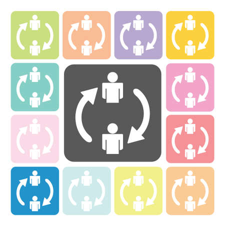 conquering adversity: Change people Icon color set vector illustration.