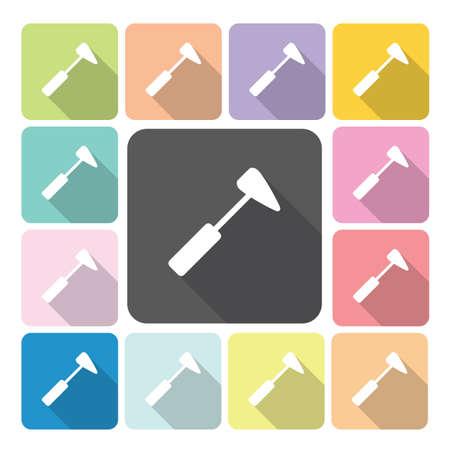 hummer: Medical hummer Icon color set vector illustration. Illustration