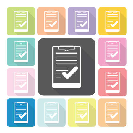 to do list: Paper board Icon color set vector illustration.
