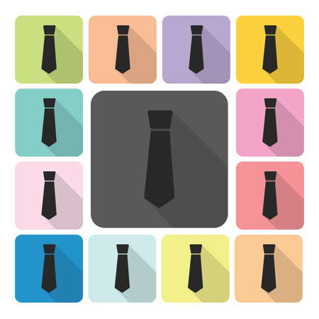 Tie Icon color set vector illustration. Vector