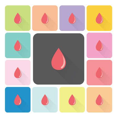 blood pressure: Blood Icon color set vector illustration.