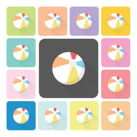Rubber air Icon color set vector illustration. Vector