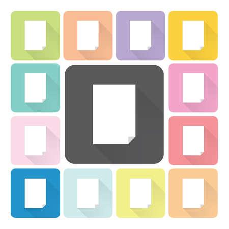 unfolded: Paper Icon color set vector illustration.