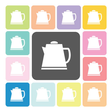 chinese tea pot: Tea maker Icon color set vector illustration. Illustration