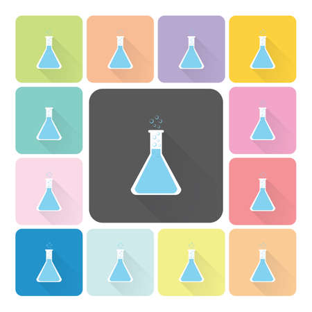 sterilization: Flask Icon color set vector illustration. Illustration