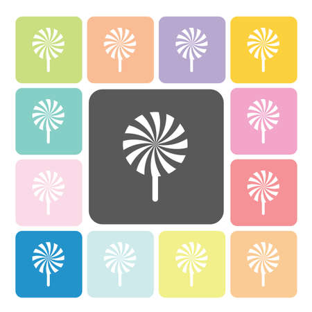 hard stuff: Lollipops Icon color set vector illustration.