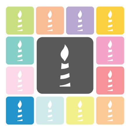 alight: Candle Icon color set vector illustration. Illustration