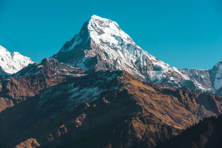 mountain peak: Himalaya mountains, Nepal. Stock Photo