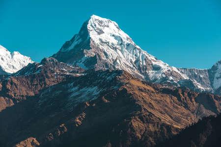 mountain view: Himalaya mountains, Nepal. Stock Photo