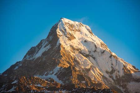 mountain peaks: Himalaya mountains, Nepal. Stock Photo