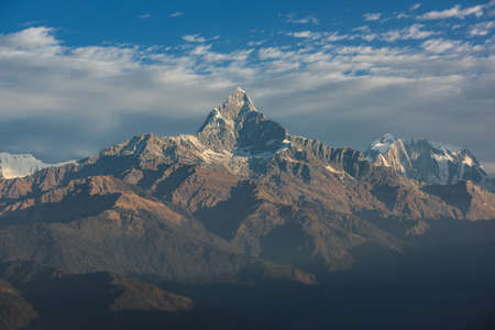 views of the mountains: Himalaya mountains, Nepal. Stock Photo
