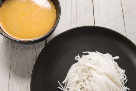 Thai rice vermicelli with curry. photo