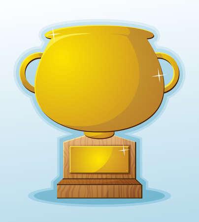 Trophy Blank Cartoon Prize Reward