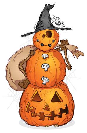 spider man: Halloween Pumpkin Scarecrow Cartoon Character