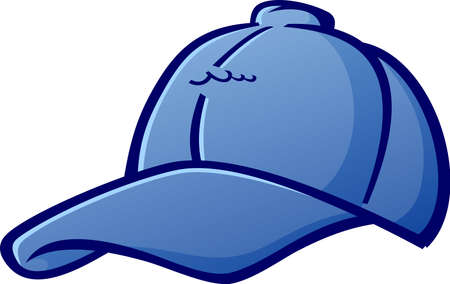 Baseball Cap Hat Cartoon Vektor-Illustration Standard-Bild - 21157442