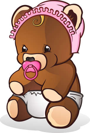 teddy bear cartoon: Baby Teddy Bear Cartoon Character