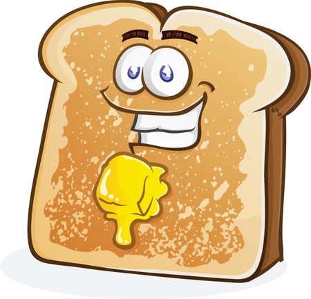 buttered: Buttered Toast Cartoon Character